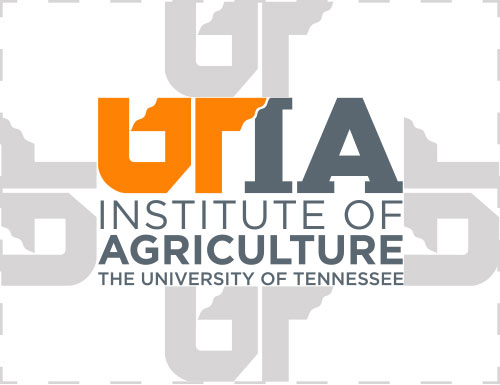 Example of clear space rule around UTIA stacked logo